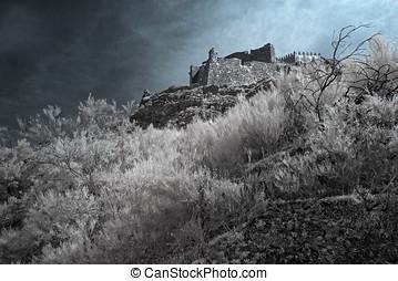Infrared medieval castle - Infrared european medieval castle...