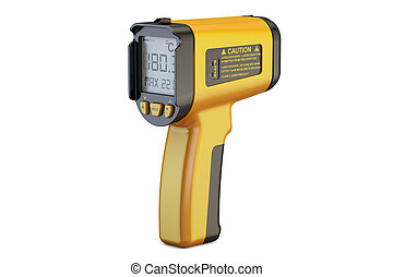 Infrared Thermometer, 3D rendering
