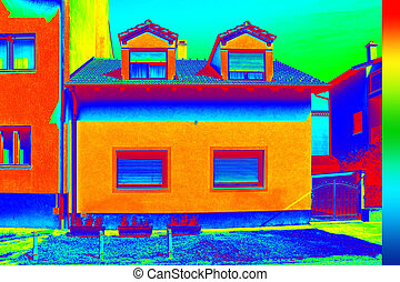 Infrared thermovision image