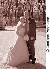 Infrared Wedding - Real infrared quadtone. Real bride and...