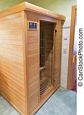 infrarouge, sauna, bois