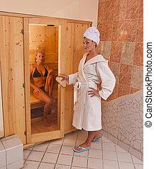 infrarouge, sauna