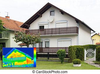 infrarrojo, thermography, imagen