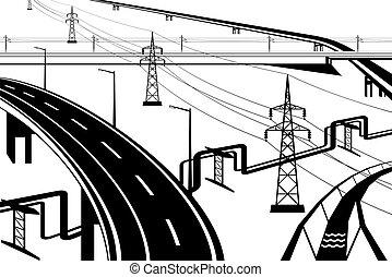 infrastructural, różny, instalacje