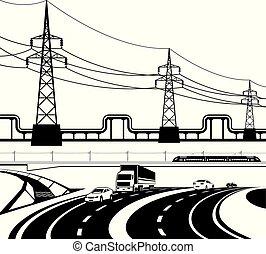 infrastructural, różny, zbudowanie