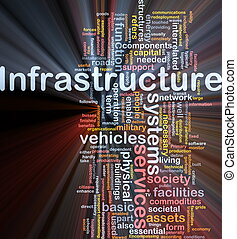 Infrastructure background concept glowing - Background...