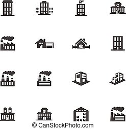 Infrastructure city icons set