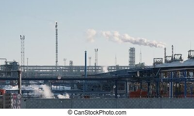 Infrastructure of industrial power plant, smoking pipes,...
