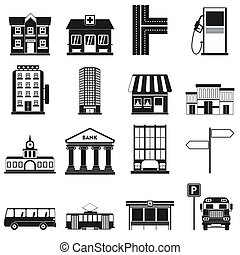 Infrastructure set icons