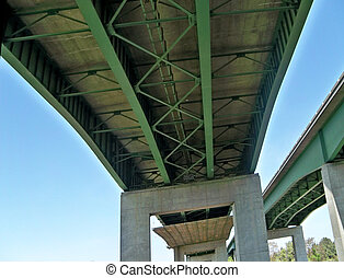 infrastructure, under the freeway