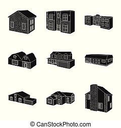 infrastruktúra, stock., jelkép., ábra, vektor, gyűjtés, saját renovation, ikon
