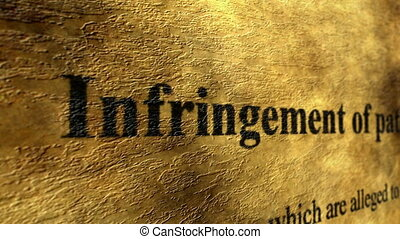 Infrigement of patents - Infrrigement of patents