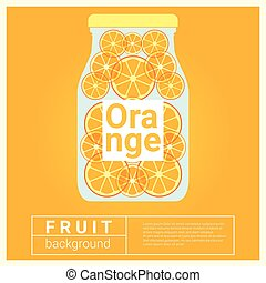 Infused water fruit recipe with orange