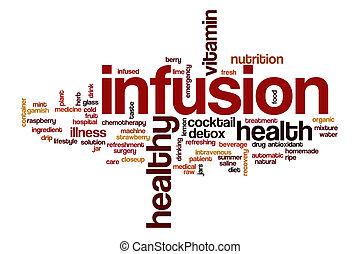 infusión, palabra, nube, concepto