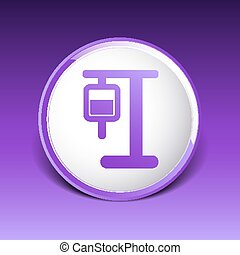 infusion icon illustration medical bag dropper intravenous...