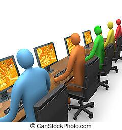 ingång, #3, -, affär, internet
