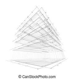 ingénierie, concept, architecture