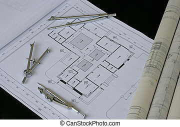 ingénierie, conception, et, dessin