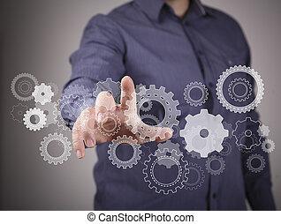 ingénierie, et, conception, image