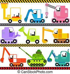ingénierie, véhicules, tracteur, /