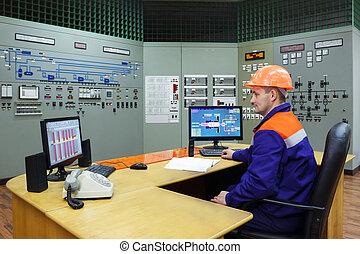 ingénieur, à, les, lieu travail