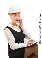 ingénieur, à, ordinateur portable