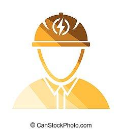 ingénieur, électrique, icône