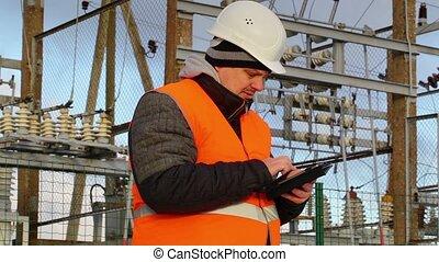ingénieur, électrique, pc tablette