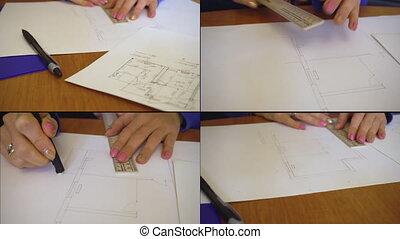 ingénieur, architecte, maison, fonctionnement, projet
