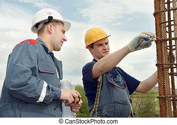 ingénieur, construction, accepter, travaux