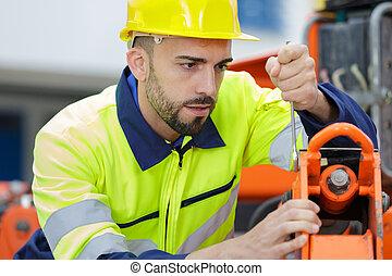 ingénieur, machine, fonctionnement, mécanique, entretien, service
