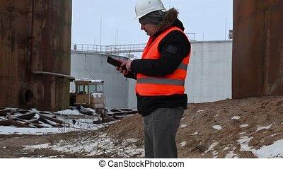 ingénieur, pc tablette, utilisation