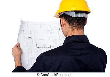 ingénieur travaux publics, réexaminer, plan