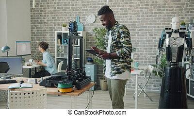 ingénieur, tridimensionnel, afro-américain, utilisation,...
