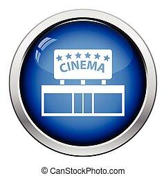 ingang, bioscoop, pictogram