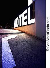 ingang, hotel