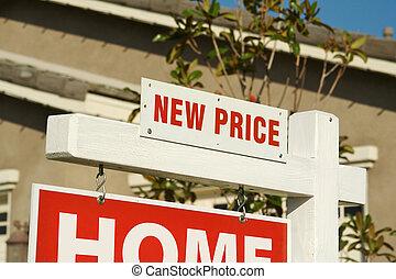ingatlan tulajdon, &, ár, aláír, új családi