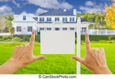 ingatlan tulajdon, épület, üres cégtábla, koholás, kézbesít, új