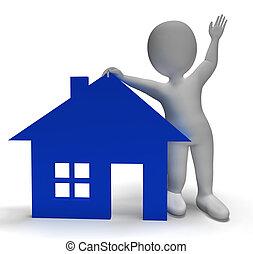 ingatlan tulajdon, épület, jelkép, betű, kiállítás, 3