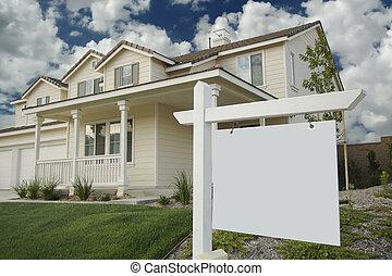 ingatlan tulajdon, új, aláír, tiszta, otthon