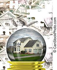 ingatlan tulajdon, ház, piac