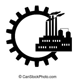 ingegneria, amministrazione, icone, set