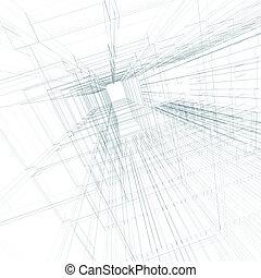 ingegneria, concetto, architettura