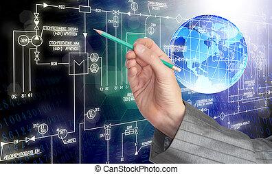 ingegneria, industriale, tecnologia