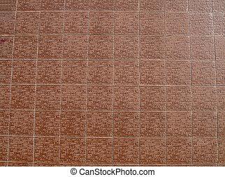 ingelijst, rode baksteen muur, bouwsector, details