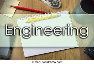 ingeniería, -, concepto de la corporación mercantil, con, texto
