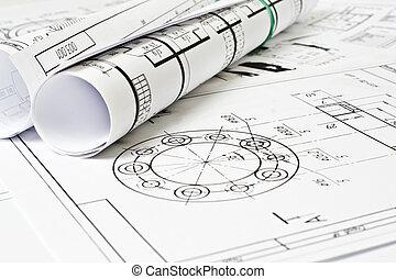 ingeniería, dibujo