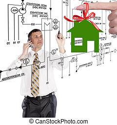 ingeniería, diseño, nuevo hogar