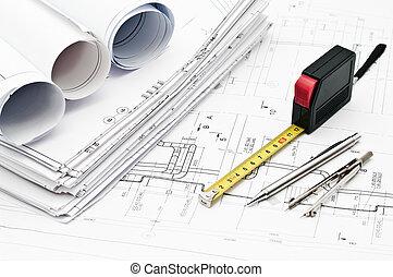 ingeniería, herramientas