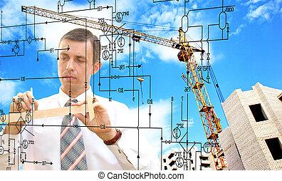ingeniería, industrial, diseñar